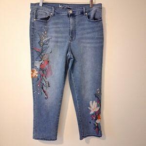 DG2 by Diane Gilman Virtual Stretch Cropped Jeans